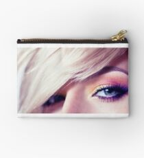 Close up eye with beautiful colors Studio Pouch