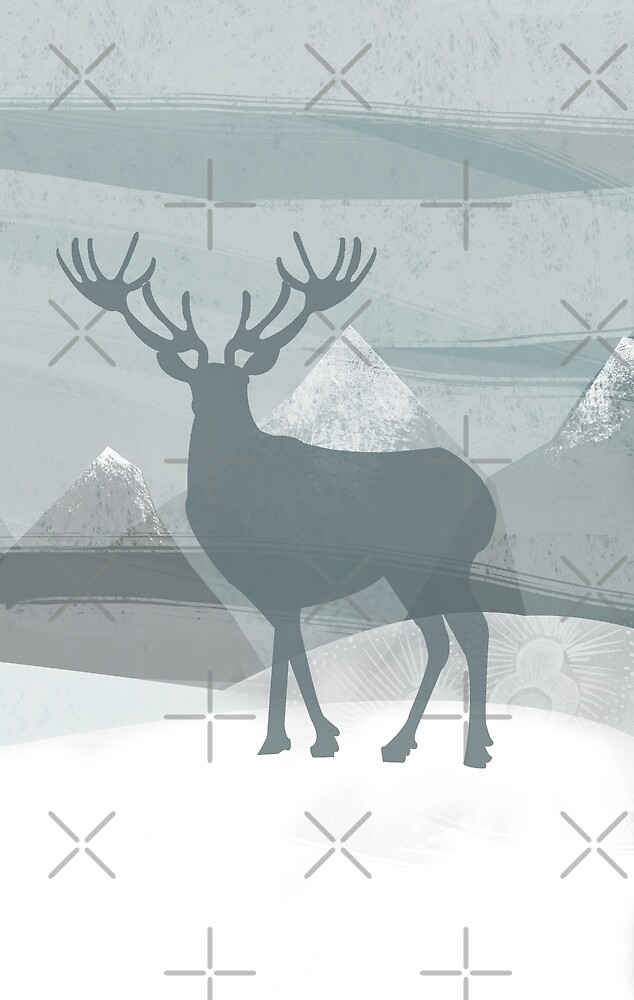 Winter stag by katherineblower