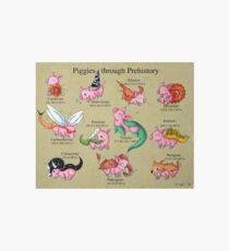 Prehistoric Piggies Art Board