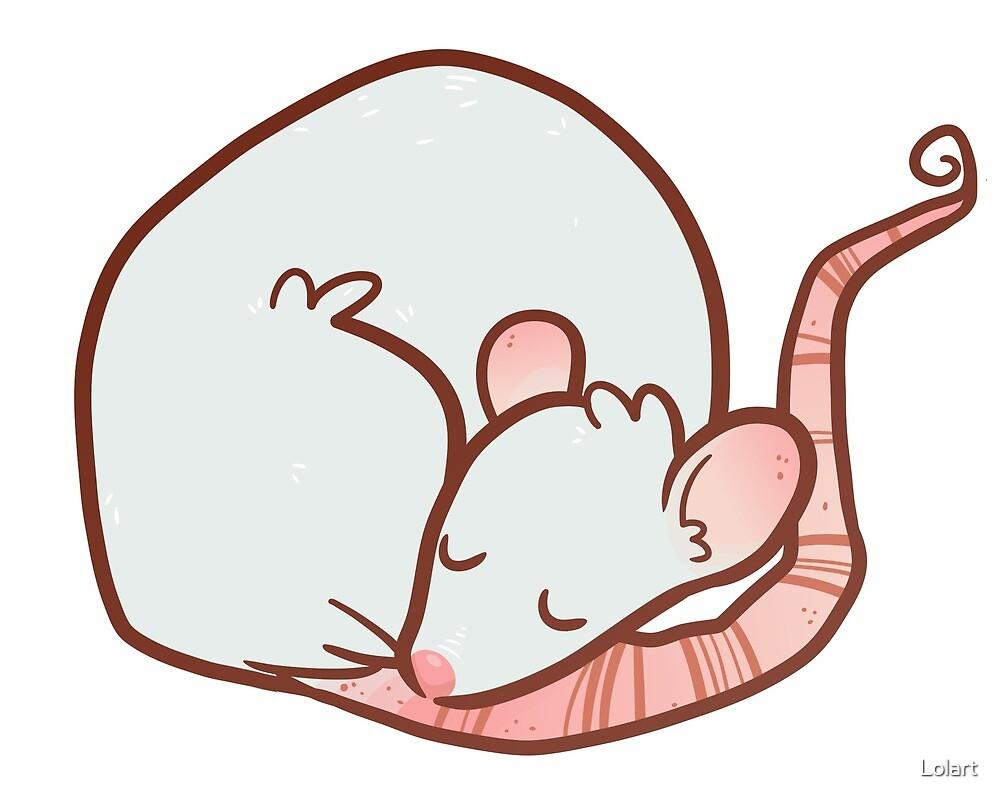 Sleepy Rat by Lolart