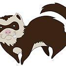Naughty ferret by Maria Nazarian