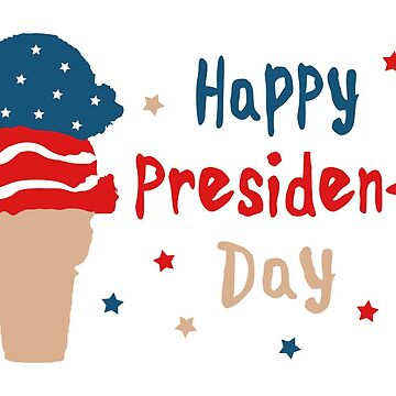 Happy President's Day Patriotic Ice Cream Cone by maydaze