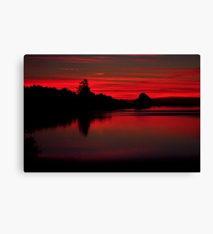 Sunset at Cape Mears Lake Canvas Print