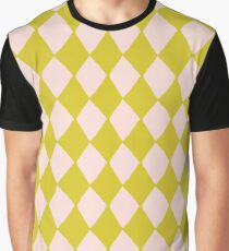 Pink and Olive Diamonds Graphic T-Shirt