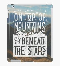 On Top Of Mountains iPad Case/Skin