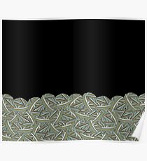 Pretty Piles of Succulent Yarn Balls on Black Background for Luscious Leggings Collection by Kristin Omdahl Poster