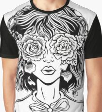 Rose lady-black and white Graphic T-Shirt