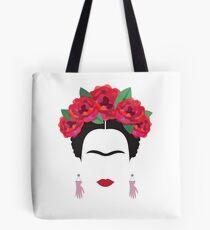 frida kahlo minimal illustration Mexico historical artis Tote Bag