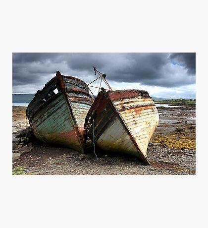 Abandoned Boats Photographic Print