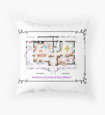 House of Lorelai & Rory Gilmore - Ground Floor Throw Pillow