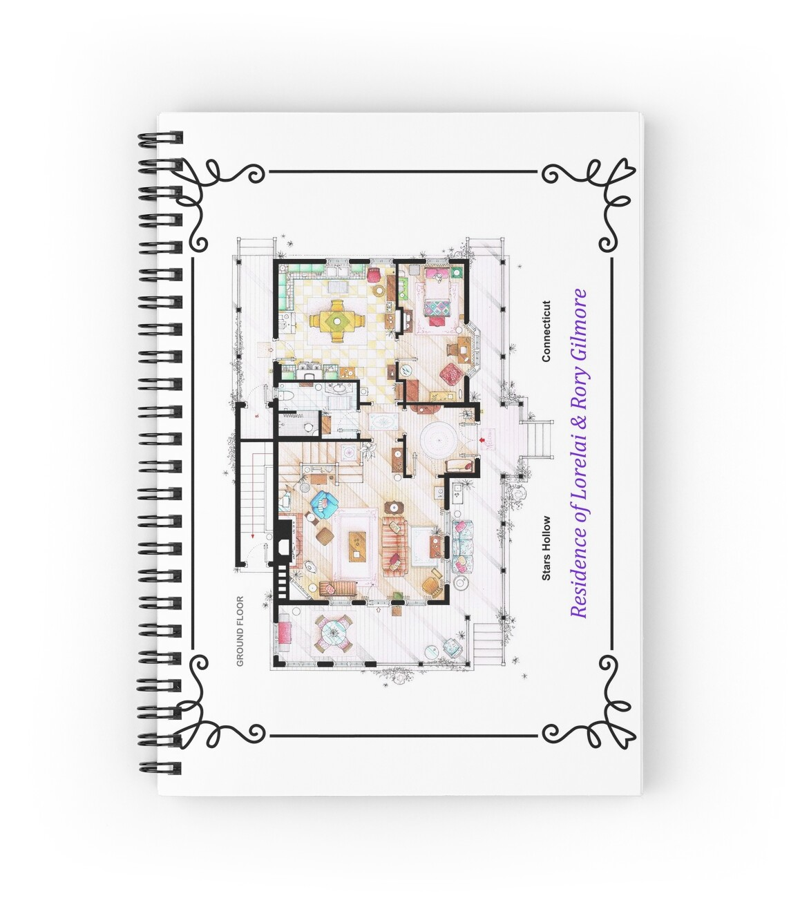 House Of Lorelai Rory Gilmore Ground Floor Spiral Notebooks  # Muebles Google Translate
