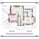 House of Lorelai & Rory Gilmore - First Floor by Iñaki Aliste Lizarralde