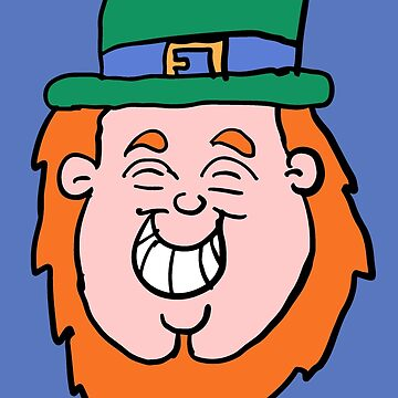 Grinning Leprechaun head  by Rajee