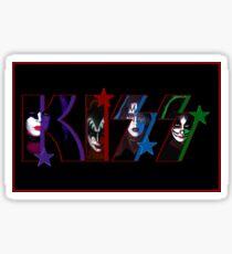 Kiss Logo Text Design Sticker