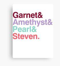 The Crystal Gems - Gem Colors Canvas Print