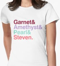 The Crystal Gems - Gem Colors Women's Fitted T-Shirt