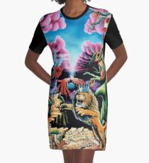 Trippy Psychedelic Visionary Surreal Psy Art - THE WRATH by Vincent Monaco Graphic T-Shirt Dress