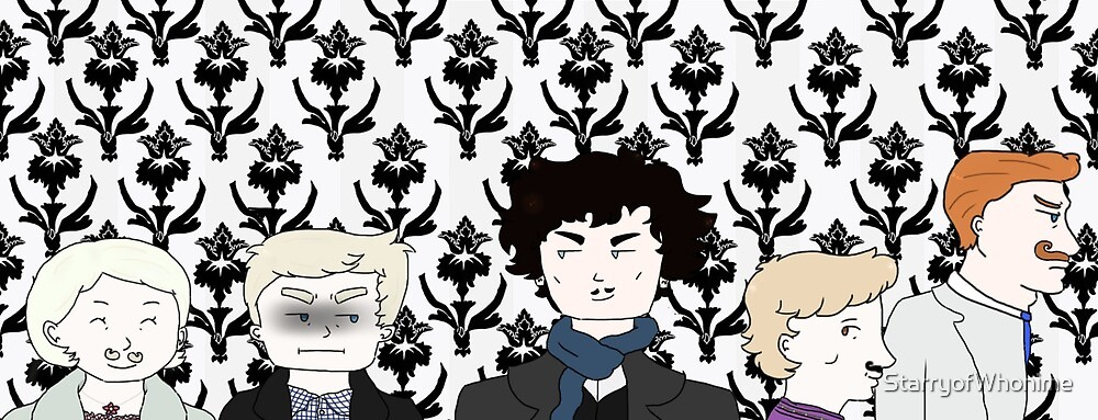 Mustaches at 221B by StarryofWhonime