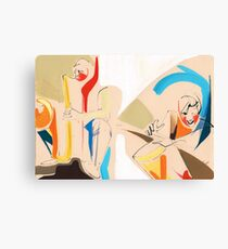 Jazz Groovy Musicians Playing Canvas Print