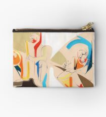 Jazz Groovy Musicians Playing Zipper Pouch
