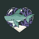 MEGABYTE, the Megalodon Shark by bytesizetreas