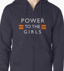 Power To The Girls Zipped Hoodie