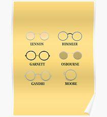 Circular Glasses Poster
