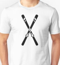 Crossed ski Slim Fit T-Shirt