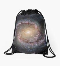 Grand Swirls: NGC 1566 Beautiful Galaxy Drawstring Bag