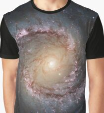Grand swirls, swirls, hubble, ngc 1566, beautiful, galaxy, million light years, constellation Graphic T-Shirt