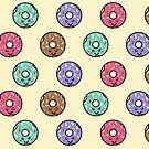 Kawaii Donut Pattern by latheandquill