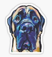 Fun English Mastiff Dog bright colorful Pop Art Sticker