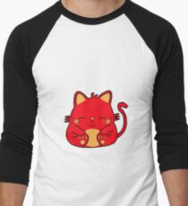 Cute Kitty Cat - Red Men's Baseball ¾ T-Shirt