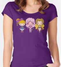 Lil' CutiEs - Eighties Ladies Women's Fitted Scoop T-Shirt