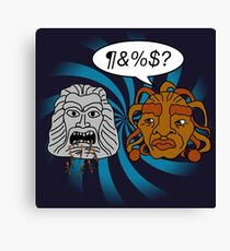 What did you eat?! (or When The Face of Boe met The Head of Zardoz) Canvas Print