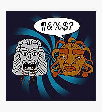 What did you eat?! (or When The Face of Boe met The Head of Zardoz) Photographic Print