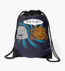 What did you eat?! (or When The Face of Boe met The Head of Zardoz) Drawstring Bag
