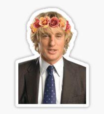 Owen Wilson Flower Crown Sticker