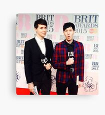 Dan and Phil - BRITS Canvas Print