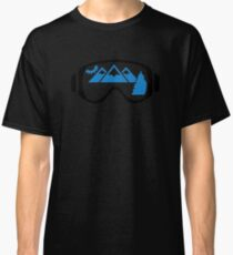 Ski goggles mountains Classic T-Shirt