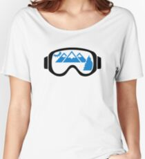 Ski goggles mountains Women's Relaxed Fit T-Shirt