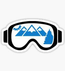 Ski goggles mountains Sticker