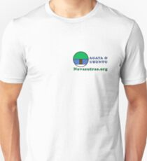 Compact Novasutras Logo with Agaya & Ubuntu plus URL Slim Fit T-Shirt