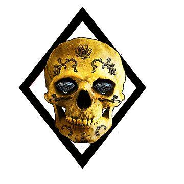 Diamond Eyes Skull by diana2266