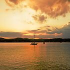 sunset on the Lake  by GOSIA GRZYBEK
