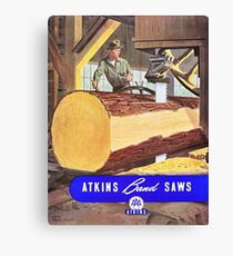 Atkins Band Saws Vintage Catalog Art Poster Canvas Print