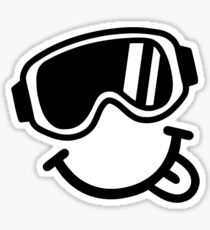 Ski smiley face Sticker