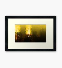 Urban cityscape sunset beautiful scenic geometric painting Framed Print