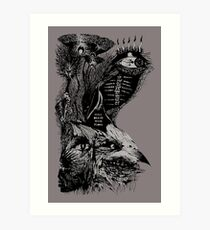 still death with flora Art Print