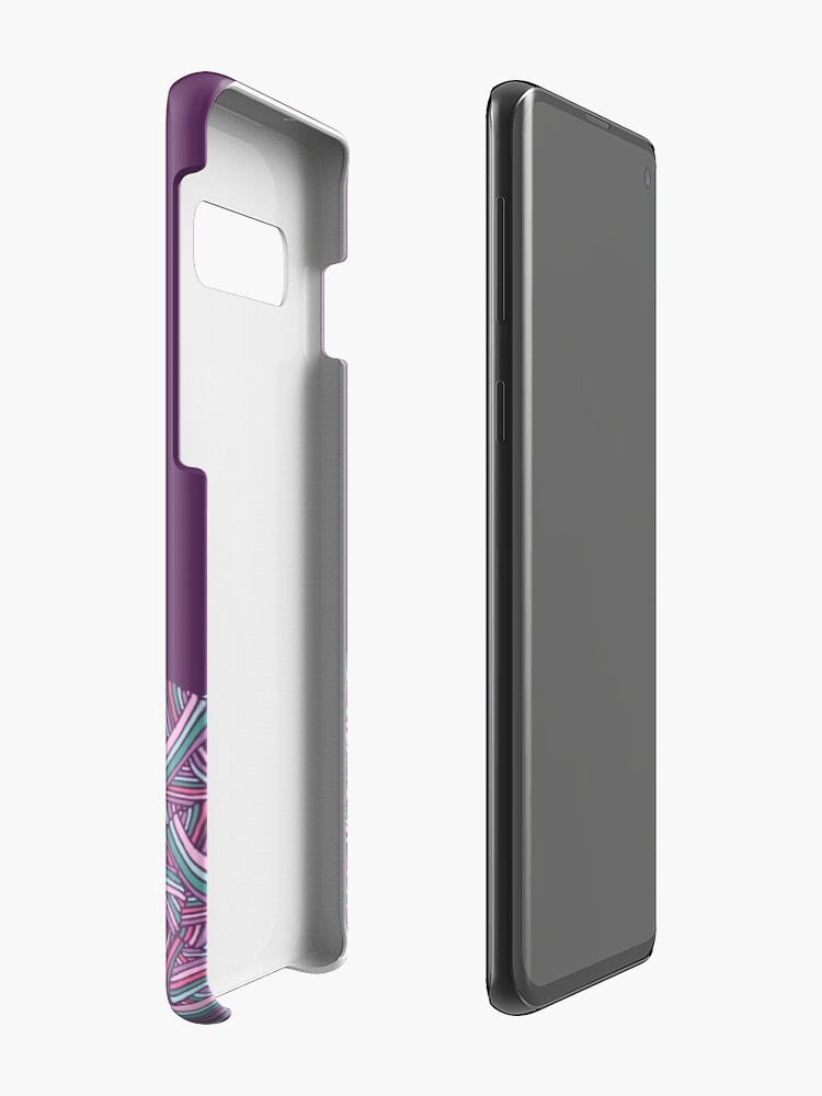 Alternative Ansicht von Hübscher Stapel der Makronen-Garn-Bälle für luscious Gamaschen-Sammlung durch Kristin Omdahl Hüllen & Klebefolien für Samsung Galaxy